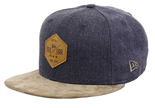 New Era 59fifty Basecap Hexagon Patch Heather Indigo/Brown Suede - 7 5/8-61cm