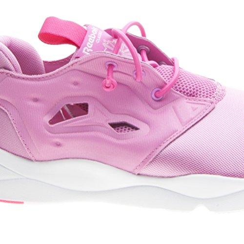 Reebok Furylite, Chaussures de Sport Fille Multicolore - Rosa / Blanco (Icono Pink / Solar Pink / Wht)
