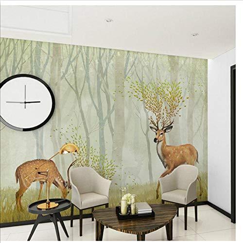 QThxqa 3D GeprägteTier Wandbild Tapeten für Kinder Schlafzimmer Wohnzimmer TV Hintergrund Wandkunst Dekor Minion Wallpaper-350X245CM