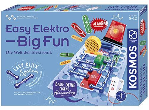 KOSMOS Easy Elektro - Big Fun, Entdecke die Welt der Elektronik, Radio bauen, mit Lautsprecher und Mikrofon Töne erzeugen, Schaltungen per Lichtsensor steuern, Experimentierkasten für Kinder ab 8 - 12