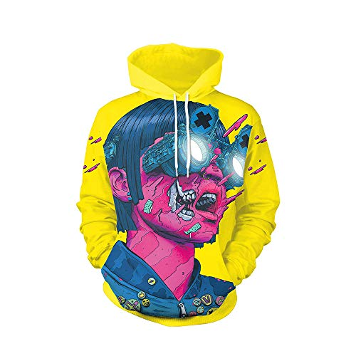 OYSOHE Liebhaber Sweatshirt,3D Print Punk Party Langarm Pullover -