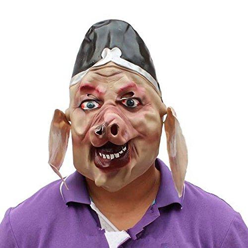 &zhou Lustige Halloween Maskerade Maske Erwachsene männliche Cocplay Reise nach Schwein Schwein Gesichtsmaske , mask