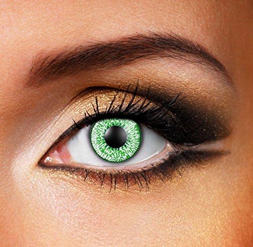Eyefusion® Farbige Mystic Green Kontaklinsen Crazy Ohne Starke Fur Halloween Und Karneval