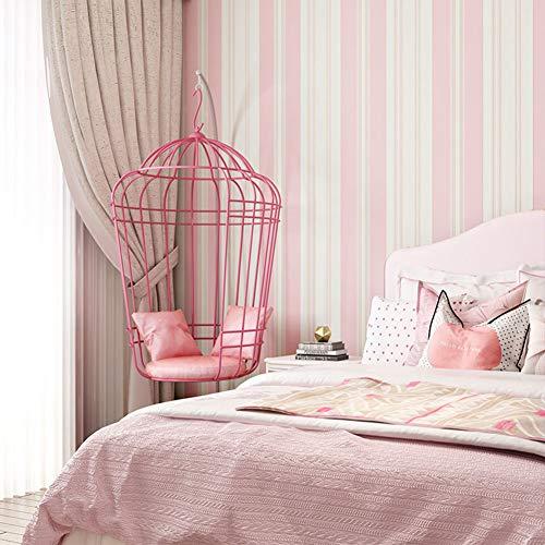 Tapete, mediterrane Farbe Vertikale Streifen Wohnzimmer Hintergrundbild Moderne minimalistische Kinder Volle Schlafzimmer Vliesstoff (10m * 0,53m) (Color : A)