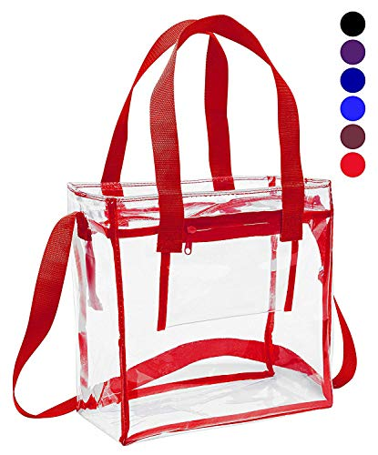 Deluxe NFL Stadion zugelassen klar Tasche mit verstellbarem Schulterriemen und Griffen/12x 12x 6transparent Tasche, rot - Chicago-griff