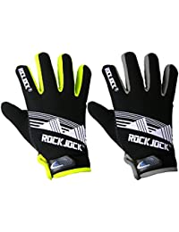 MENS ADULTS ROCK JOCK NEON THERMAL GLOVES FLEECE LINED GRIP SPORTS ACTIVITY
