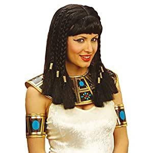 Perruque de Cléopâtre noir avec frange Mardi gras perruques égyptiennes perruque pour femme Égyptienne perruque de Cléopâtre Mardi gras Cléopâtre costume accessoire