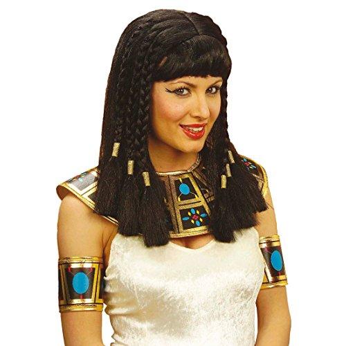 chwarz mit Pony Fasching ägyptische Perücken Damenperücke Ägypterin Kleopatraperücke Fasnacht Cleopatra Kostüm Zubehör (Schwarze Cleopatra-kostüm)