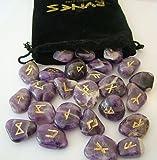 Pierre Rune Lot de 25 pierres améthyste cristal Rune Spiritual Gifts. Livraison sous 2 jours ouvrables.