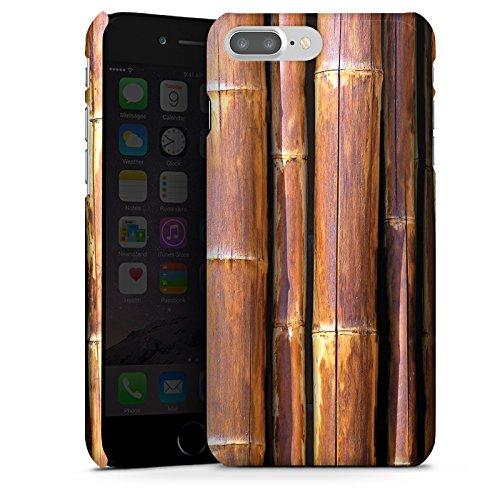Apple iPhone X Silikon Hülle Case Schutzhülle Bambus Bambusrohr Braun Premium Case glänzend