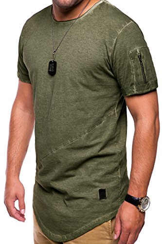 7de9c8b5 MT Styles Oversize avec Zipper T-Shirt Homme C-9042