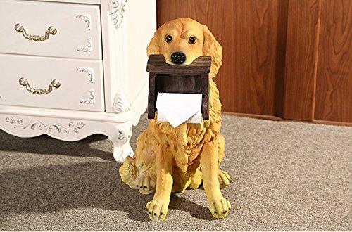 WEI Europäischen Stil Toilettenpapierschachtel Kreative Hund Toilettenpapier Toilette Badezimmer Toilettenpapier Toilettenpapier Rollenpapier Hängende Toilettenpapierhalter,31 * 41 * 53 cm