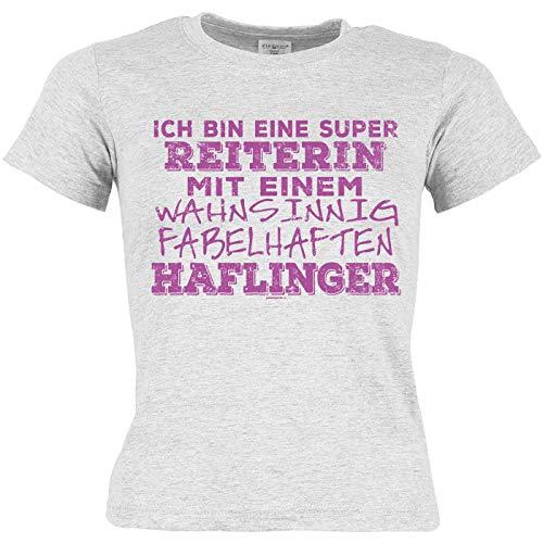 Kinder/Mädchen-Shirt Thema Pferderassen: Ich Bin eine super Reiterin mit Einem wahnsinnig fabelhaften Haflinger -