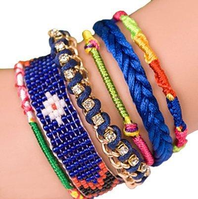 """ANDANTE - moda hippie, pulsera de estilo etno """"FIJI"""", tamaño universal de acero noble con cierre automático (modelo 4026)"""