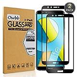 Owbb [2 Pièces] Film Protecteur D'écran en Verre Trempé pour Huawei Honor 9 Lite (5.65 pouce) Noir Couverture Complète Protection 99% Haute Transparent Anti-déflagrant