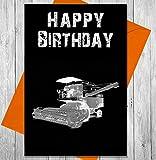 Carte d'anniversaire Moissonneuse-batteuse–Effet Tableau noir Unique carte de vœux