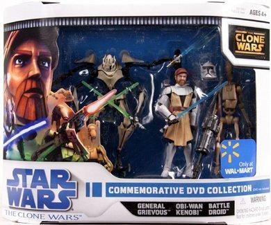 Commemorative Collector Set mit General Grievous 4 Lightsaber, General Kenobi & Battle Droid - Star Wars The Clone Wars