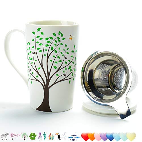 TEANAGOO Tasse à thé en céramique (510 ML) avec infuseur et...