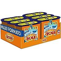Sole Perle Di Pulito, Detersivo per Lavatrice in Capsule Monodose, Triplice Azione, Megapack da 156 Lavaggi