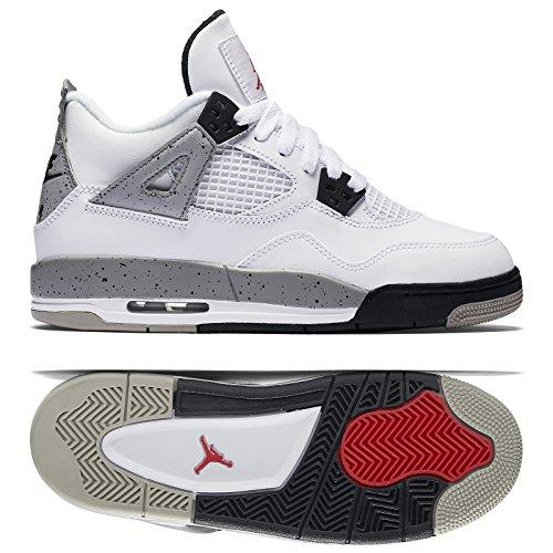 sale retailer c46d4 87e5b Nike Jungen Air Jordan 4 Retro OG BG Turnschuhe, Rot Schwarz (Weiß