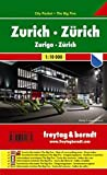 Freytag Berndt Stadtpläne, Zürich, City Pocket + The Big Five, wasserfest - Maßstab 1:10 000