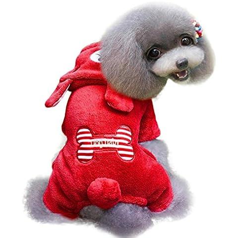 para el suéter de camuflaje para mascotas, RETUROM venta caliente preciosa Hot Dogs El hueso del coral cachemira Mono mascota cachorro ropa caliente suave (2XL, Marrón)