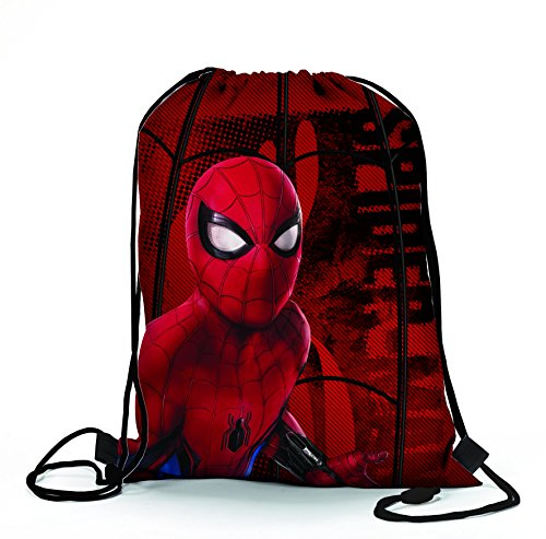 Spider man m96077 mc sacchetto per calzature, 39 cm, multicolore