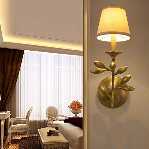 QFF American Style Rural Alle Bronze Wandleuchte Ländlichen Einzelkopf / Doppel Kopf Kupfer Lampe Jane Wohnzimmer Schlafzimmer Studie Lampe ( größe : #1 ) - Bronze Doppel-post