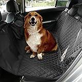 NuoYo Autoschutzdecke Hund Autositz Abdeckung Hochwertiges Material Schützt Ihre Autositze vor Schmutz Schwarz