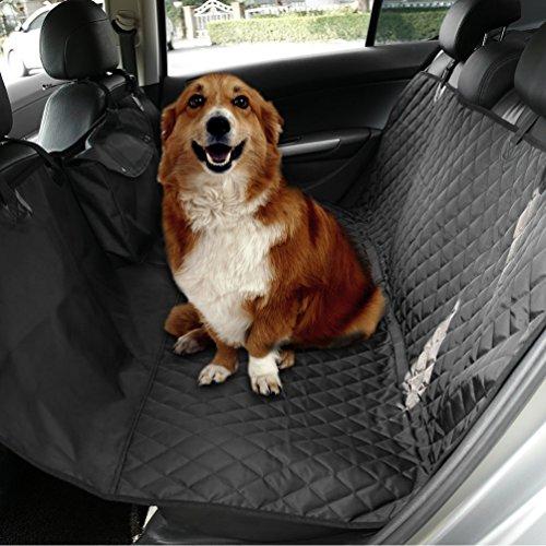 NuoYo Autoschutzdecke Hund Autositz Abdeckung Hochwertiges Material Schützt Ihre Autositze vor Schmutz Schwarz (Fiesta Schwarz Platte)