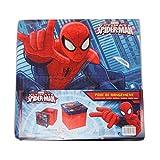 Russo Tessuti Pouf Coffre à Jouets Pliable pour Enfants Spiderman