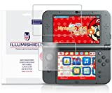 iLLumiShield - New Nintendo 3DS XL Screen Protector (2015) with Lifetime Replacement Warranty - Japanese Ultra Clear HD Film with Anti-Bubble and Anti-Fingerprint - High Quality (Invisible) LCD Shield - [3-Pack] OEM / Retail