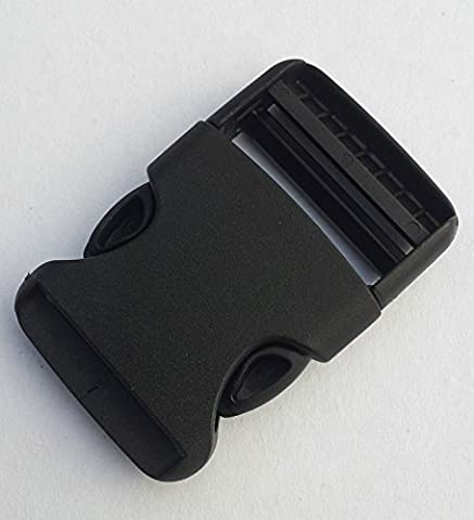 Nexus Black Rounded Side Release Buckle 40mm