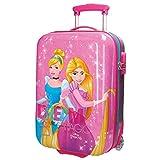 Disney, valigia rigida in ABS per bambini, utilizzabile come bagaglio a mano Rosa 06 Princess 28703 carry-on