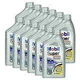 12x Motoröl Mobil Super 3000 Xe 5w-30 1l Hochwertiges Leichtlauf Motorenöl Synthtisch Benzin Und Diesel Motor Geringer Aschegehalt Synthetic Motoroil Hervorragende Fließeigenschaften