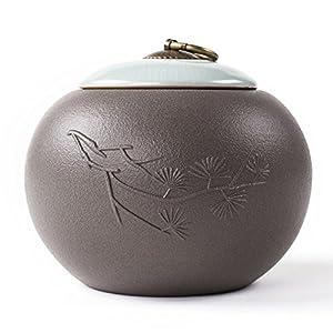 Stockage De Caddy,Conteneurs De Boîtes à Thé,Pot De Stockage De Thé Pot En Céramique Hermétique Ensemble De Thé De Poterie Grossière
