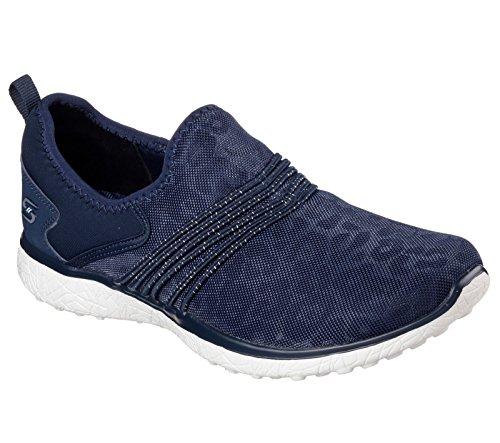 Skechers 39 Microburst Under Wraps Leopard Print Slip-on Chaussures - Gris