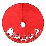 FY Christbaumständer Deko Weihnachten Holz Baumdecke Christbaumdecke Weihnachtsmann Lyck Muster Geschenke Weihnachtsbaum Durchmesser 39.37 Zoll Rot