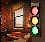 Wandleuchte kreative Wandleuchte Restaurant Cafe Kinderzimmer Leuchten Outdoor Industrie Verkehr Ampeln grünes Licht