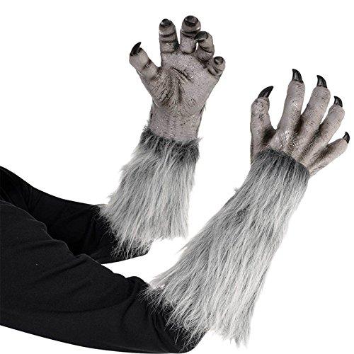 Erwachsene & Teens Halloween Werwolf Handschuhe Kostüm (Werwolf Handschuhe Kostüm)