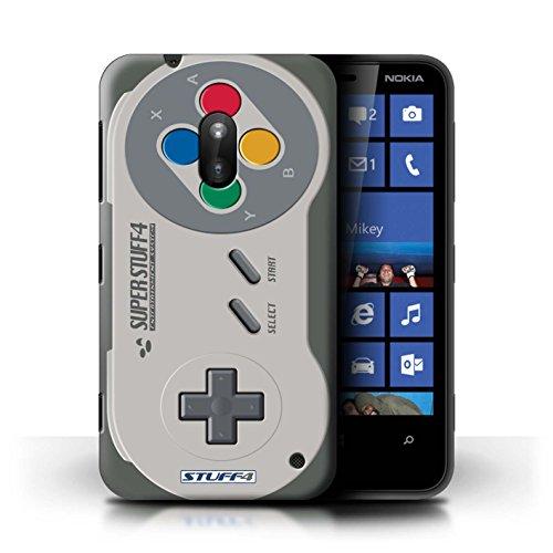 Stuff4 Hülle / Case für Nokia Lumia 620 / Super Nintendo Muster / Spielkonsolen Kollektion