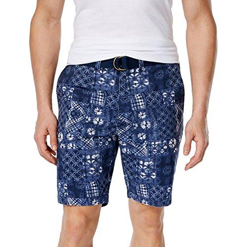 American Rag Mens Tie-Dye Slim Fit Casual Shorts Blue 31 (Denim Blue Bandana)