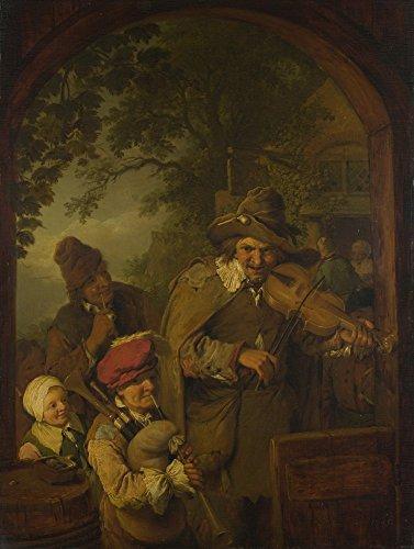 Christian Wilhelm Ernst Dietrich-The Wandering Musiker, gespannte Leinwand Galerie verpackt. 50,8x 71,1cm ()