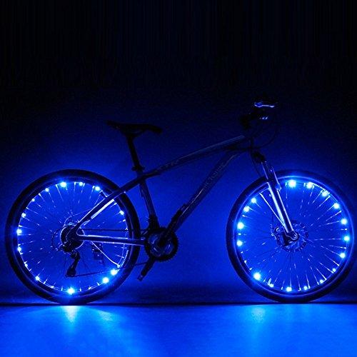 LED Speichenlicht Fahrrad Rad , Wasserdicht Fahrrad Felge Lichter Beleuchtung für Nacht Outdoor-Fahrt Blau 2 Stück