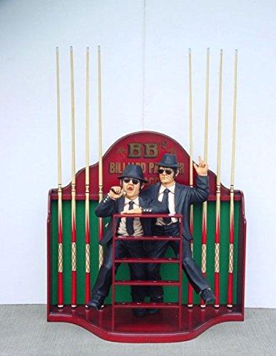 Blues Brothers Queuehalter verkleinert 112cm für draußen aus Hochwertiger Glasfaserkunststoff (GFK)