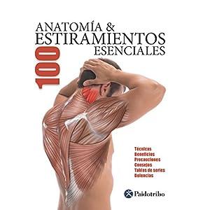 Anatomía & 100 Estiramientos Esenciales (Color): Técnicas, beneficios, precauciones, consejos, tablas de series, dolen