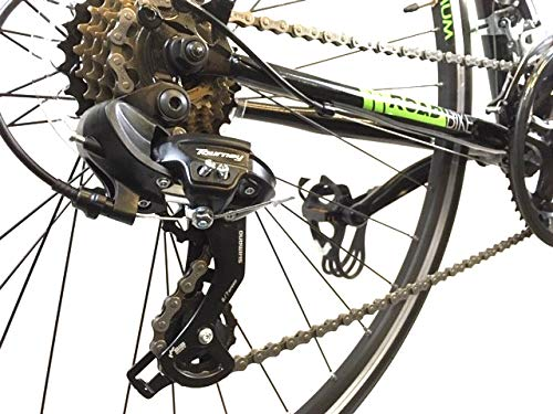 51 WtdwEL8L - Falcon Optimum Mens Road Racing Bike - Black/Green