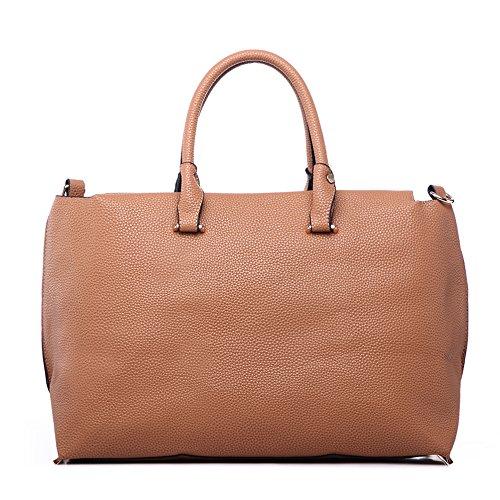LeahWard® zu Ende Große Größe Damen Tote Handtasche Damen Mode Essener Berühmtheit Schultertaschen Qualität Kunstleder CWD223 CWJM443 Groß Camel