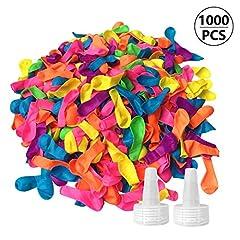 Idea Regalo - FUNNY HOUSE 1000 Palloncini d'Acqua, Water Balloons Colorato Bombe da Acqua Palloncini Facile da Riempire