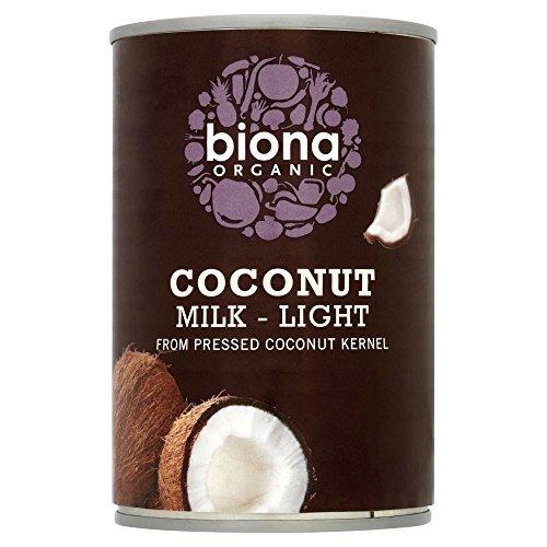 Biona Lait De Noix De Coco Organique Lumière - 9 % De Matières Grasses (400Ml)